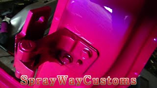 How To Paint Car Door Jambs / Outrageous Paint On 2001 Cadillac Deville - Part 2