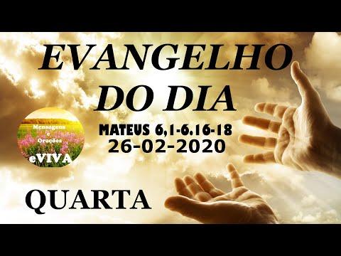 EVANGELHO DO DIA 26/02/2020 Narrado e Comentado - LITURGIA DIÁRIA - HOMILIA DIARIA HOJE