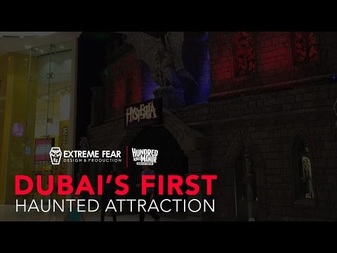 Dubai's first haunted attraction designed and built by Pittsburgh, PA based team, Extreme Fear Design & Production. Who is best known for their work on one of the nations top haunted houses, Hundred Acres Manor in Pittsburgh, PA.