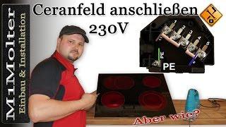 ceranfeld anschlie en 230 volt induktionskochfeld. Black Bedroom Furniture Sets. Home Design Ideas