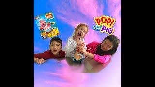 Распаковка игры pop the pig ! или кто съел все бургеры? Pop the pig family game