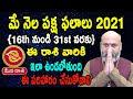 May Rasi Phalalu   16th May to 31st May   Mithuna Rashi 2021   Nanaji Patnaik   Pooja Tv Telugu
