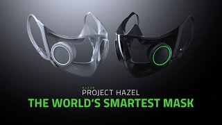 Razer Face Mask: Project Hazel Smart Mask with LEDs! #Shorts