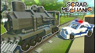 TRAIN HEIST! - Scrap Mechanic Multiplayer Gameplay - Cops & Robbers Challenge