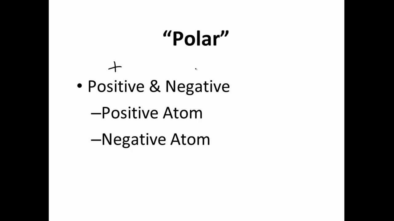 Polar Covalent, Nonpolar Covalent & Ionic Bonds - YouTube