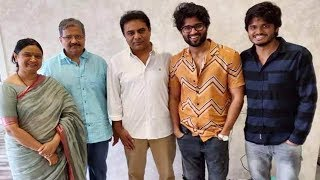 KTR surprises Vijay Deverakonda visiting his house..