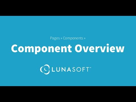 An Overview of Components as used in the LunaSoft Content Management System