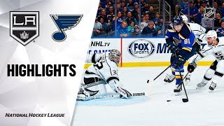 NHL Highlights   Kings @ Blues 10/24/19