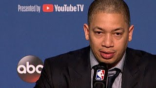 Tyronn Lue: 'It was a tough season' after Warriors sweep Cavs in NBA Finals