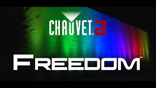CHAUVET DJ FREEDOM PAR QUAD-4 IP WHITE in action