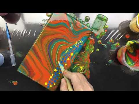 ( 639 ) Acrylic pouring swirl