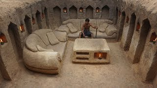 Building the most beautiful underground house with private living room