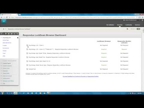 Preparing an Exam for use with LockDown Browser: Blackboard Learn