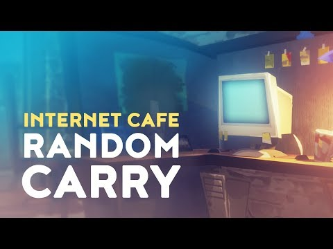 Playing with A RANDOM SQUAD in a INTERNET CAFE in Fortnite Battle Royale!