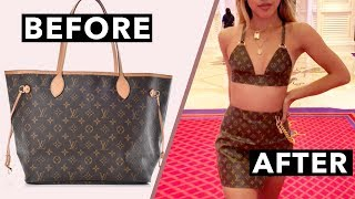 DIY TUTORIAL: Making A Two-Piece Set From A Designer Bag!