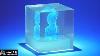 3D Hologram Project from Clear Epoxy / RESIN ART