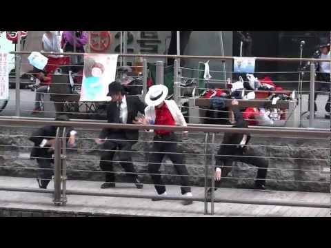 2012.6.23 マイケルジャクソン 追悼ダンス in 道頓堀 2回目