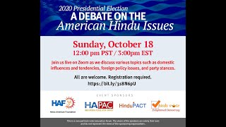 2020 Presidential Election: A Debate on American Hindu Issues | Diya TV