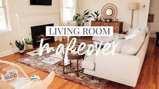 Living Room Makeover • Pulling It All Together #HomeDecor #LivingRoomMakeover #decorating #ad