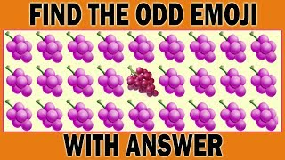 Find The Odd Food One Out | Find The Odd Emoji Out | Spot The Odd One Out | Find The Difference