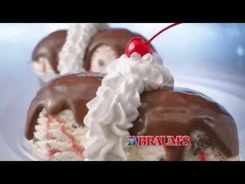 Braum's White Chocolate Raspberry CheeseCake Sundae