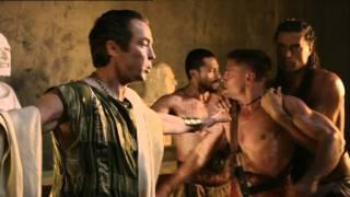 Spartacus Ep 3 #1- Spartacus aggredisce Crixus per aggiudicarsi l'arena