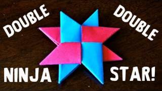 How to Make a Double Ninja Star (DIST-8) - Origami