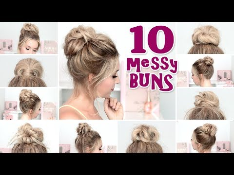 10 Messy Bun Hairstyles For New Years Eve Party Holidays Quick