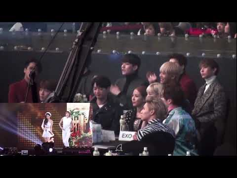 Taemin reaction to naeun dance remember ; 泰民娜恩眼神接觸的𣊬間