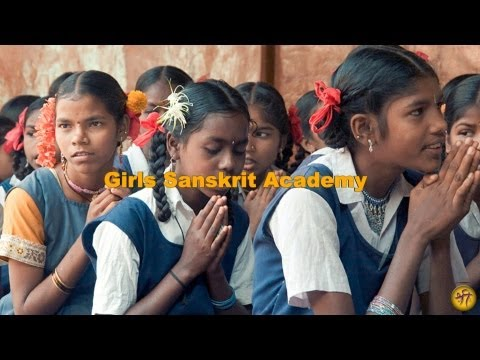 Girls Sanskrit Academy - Teaching Village Girls to Chant the Vedas in Sanskrit
