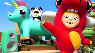 Flying Song 🐦 Kids Flying on Unicorn 🎤 Kids Karaoke Songs and Dance - One Zeez