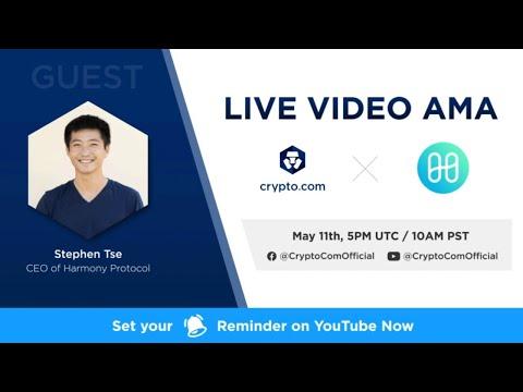 [Harmony] - Live Video AMA with Stephen Tse, CEO of Harmony Protocol