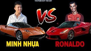 Ronaldo CR7 vs Minh Nhựa Đọ Siêu Xe , Ai Hơn Ai