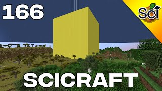 SciCraft 166: Largest Solid Gold Cube In Survival