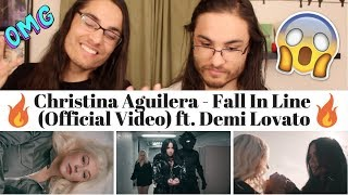Christina Aguilera - Fall In Line (Official Video) ft. Demi Lovato I Our Reaction // TWIN WORLD