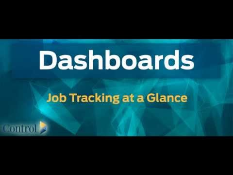 Dashboards: Job Tracking at a Glance