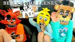 Five Nights at Freddy's Costumes and Behind The Scenes SuperHero Kids