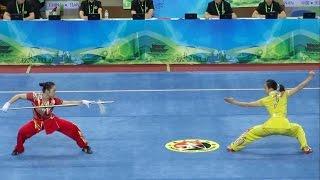 2014 1st China National Wushu Games 第一届全国武术运动大会 Women Duilian Jiangsu Team 江苏 沈清 张洋洋 9.62