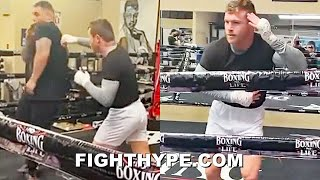 CANELO TEACHES ANDY RUIZ SHOULDER ROLL DEFENSE & DANCE MOVES; GIVES TIPS TO AVOID ARREOLA HAYMAKERS