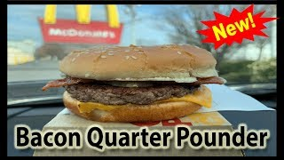 McDonald's NEW Bacon Quarter Pounder w/Cheese COLLAB with Joey's World Tour | JKMCraveTV
