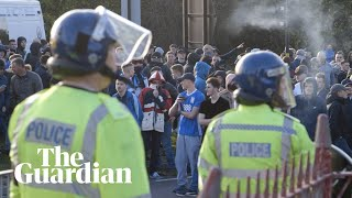 Behind the scenes on Birmingham derby day with football fans and police