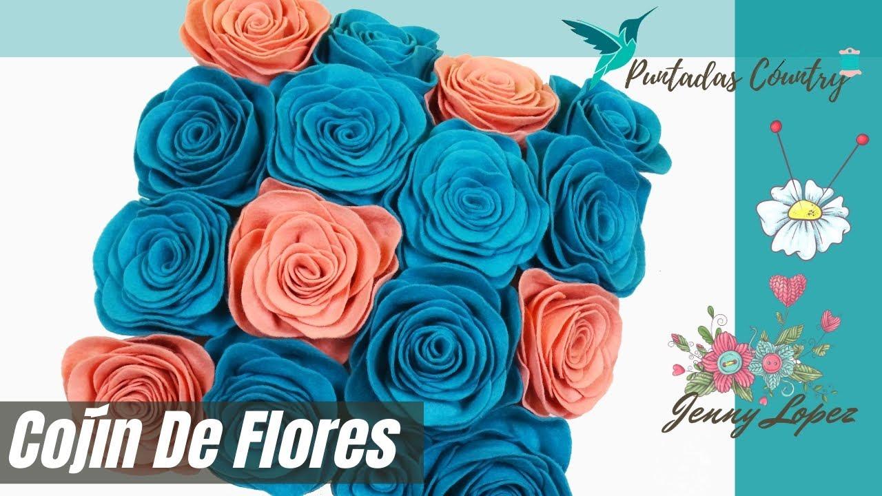Diy Cojines.Diy Cojines Decorativos Funda Cojin De Flores Paso A Paso