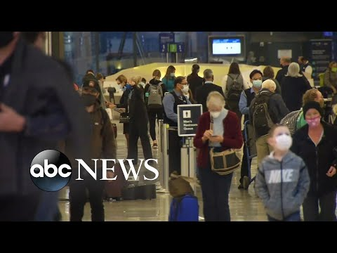 Millions of people traveling for Thanksgiving despite official warnings