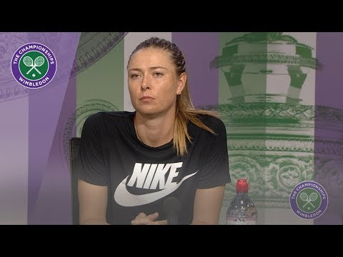 Maria Sharapova Wimbledon 2019 First Round Press Conference