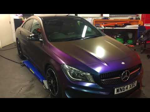 Mercedes CLA AMG wrapped Avery ColourFlow Rushing Riptide 3m