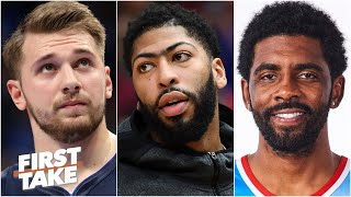 Luka-Porzingis or KD-Kyrie: Which duo comes closest to AD & LeBron? | First Take