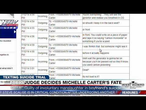 FULL READING of DISTURBING Text Messages Between Michelle Carter & Conrad Roy the Day of Suicide
