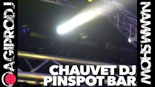 CHAUVET DJ PINSPOT BAR in action