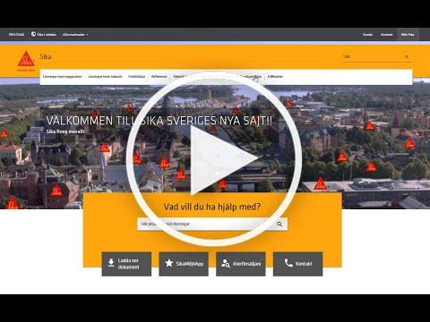 Sika Sveriges nya sajt