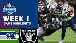 Seattle Seahawks vs. Las Vegas Raiders | Preseason Week 1 2021 NFL Game Highlights